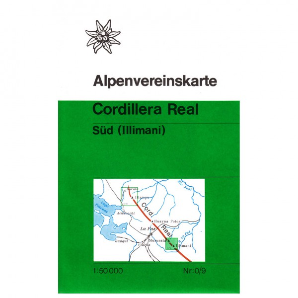 DAV - Cordillera Real, Süd (Illimani) 0/9 - Vandrekort