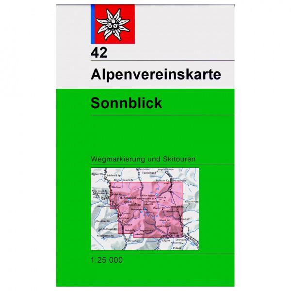 DAV - Sonnblick mit Wegmarkierungen 42 - Wandelkaart