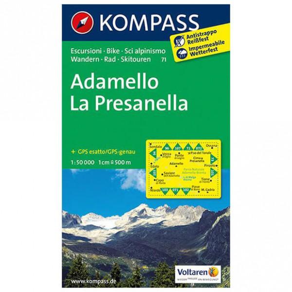 Kompass - Adamello - La Presanella