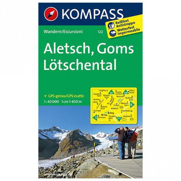 Kompass - Aletsch - Goms - Lötschental - Wandelkaart