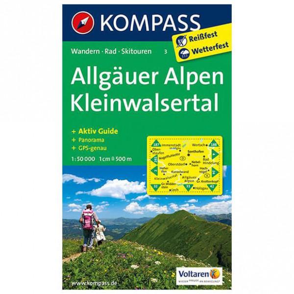 Kompass - Allgäuer Alpen - Vandrekort