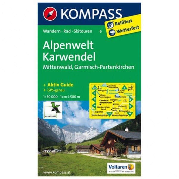 Kompass - Alpenwelt Karwendel - Cartes de randonnée