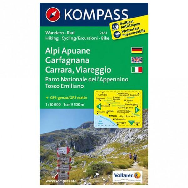 Kompass - Alpi Apuane - Garfagnana - Carrara - WK 2451