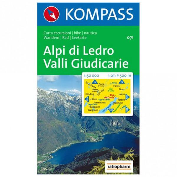 Kompass - Alpi di Ledro - Wanderkarte