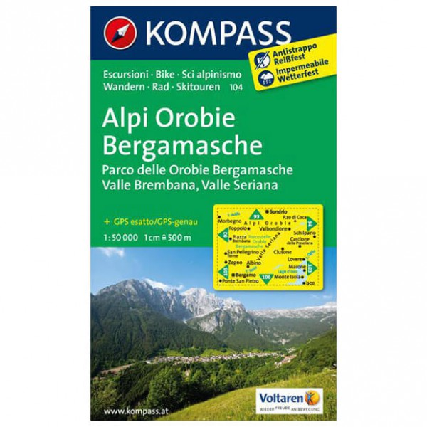 Kompass - Alpi Orobie Bergamasche - Hiking Maps