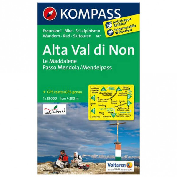 Kompass - Alta Val di Non - Wandelkaarten