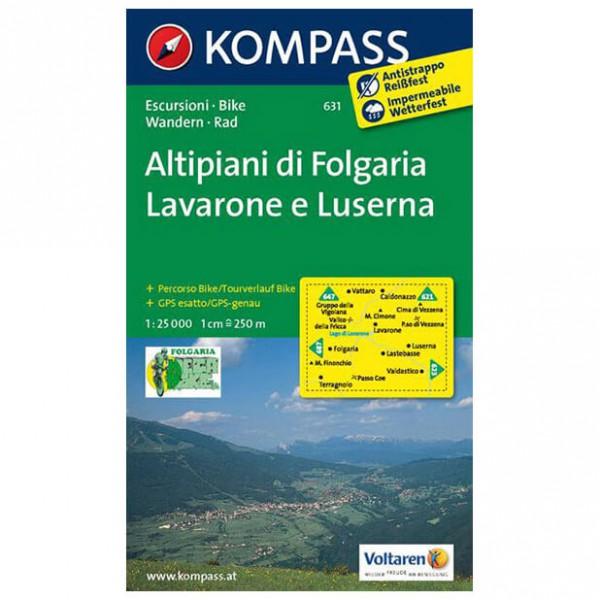 Kompass - Altipiani di Folgaria /Lavarone e Luserna - Hiking map