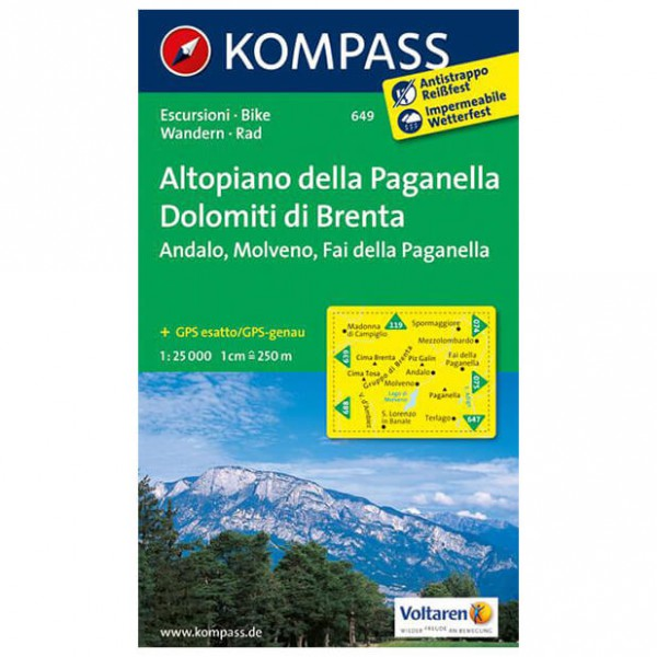 Kompass - Altopiano della Paganella - Hiking map