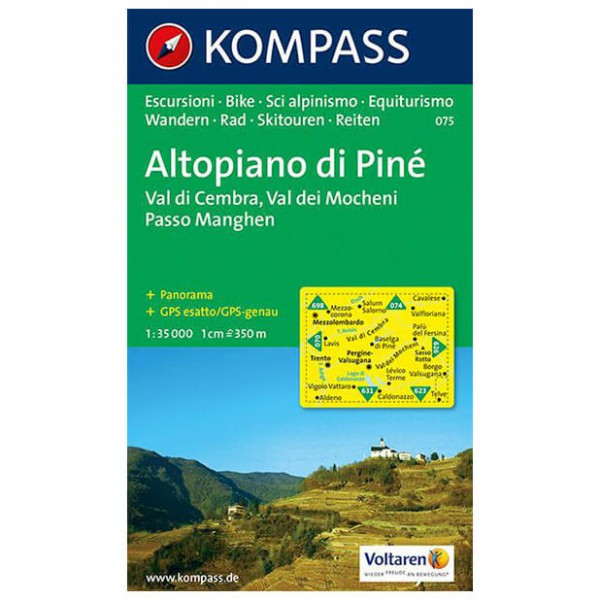 Altopiano di Pine - Hiking map