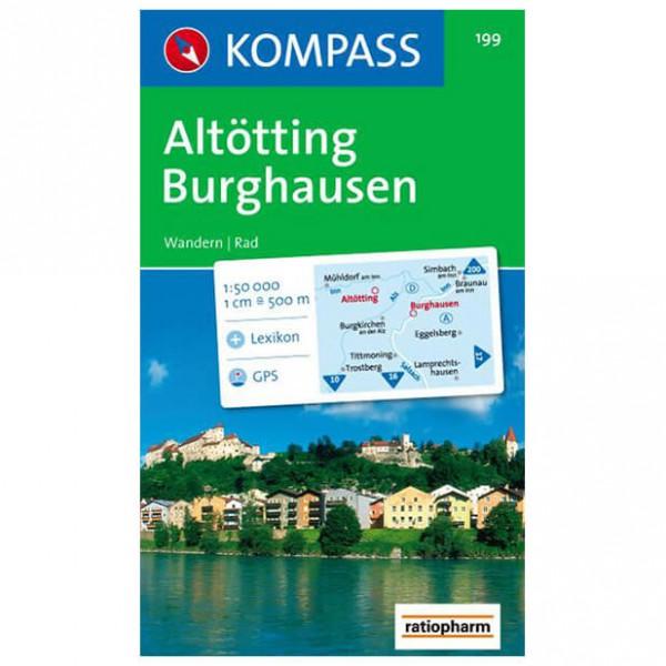 Kompass - Altötting-Burghausen - Wanderkarte