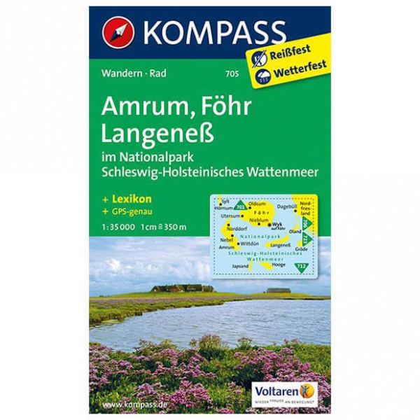 Kompass - Amrum - Wanderkarte