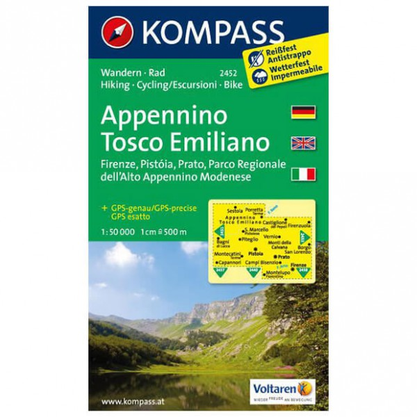 Kompass - Appennino Tosco Emiliano - Cartes de randonnée