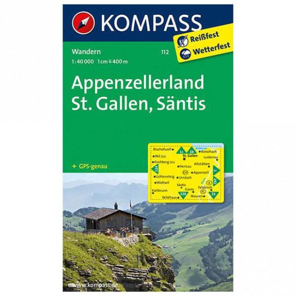Kompass - Appenzellerland - Wandelkaarten