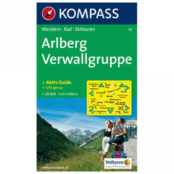 Kompass - Arlberg - Carta escursionistica