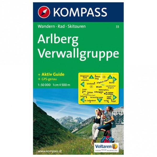 Kompass - Arlberg - Hiking map