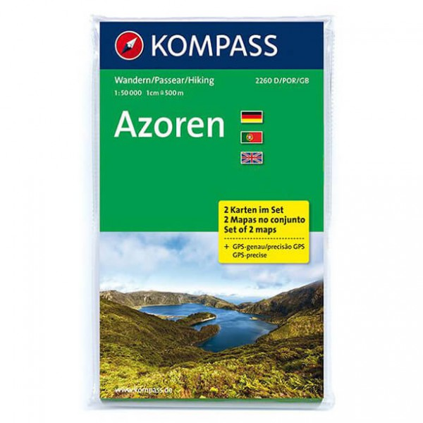 Kompass - Azoren - Wandelkaarten