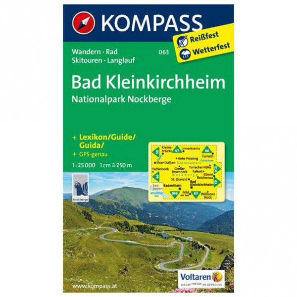 Kompass - Bad Kleinkirchheim - Vaelluskartat