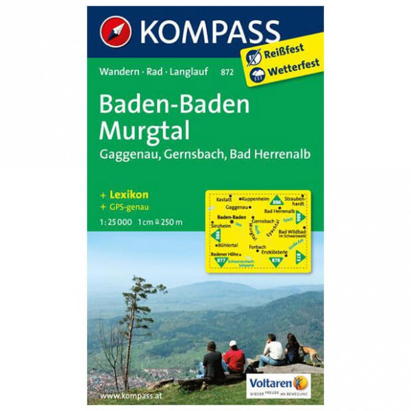 Kompass - Baden-Baden - Hiking Maps