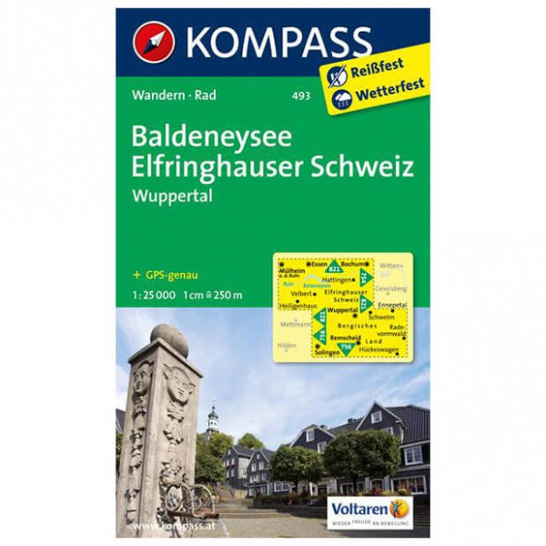 Kompass - Baldeneysee - Carte de randonnée
