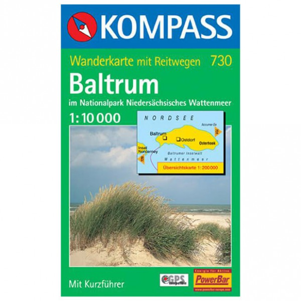 Kompass - Baltrum im Natur-Park Niedersächsisches Wattenmeer - Mapa de senderos