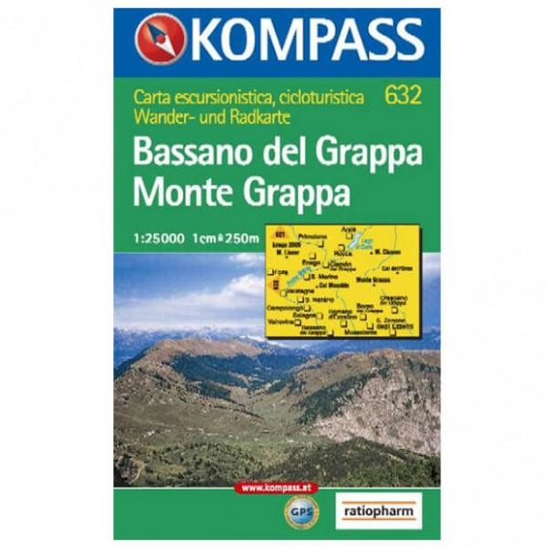 Kompass - Bassano del Grappa - Hiking Maps
