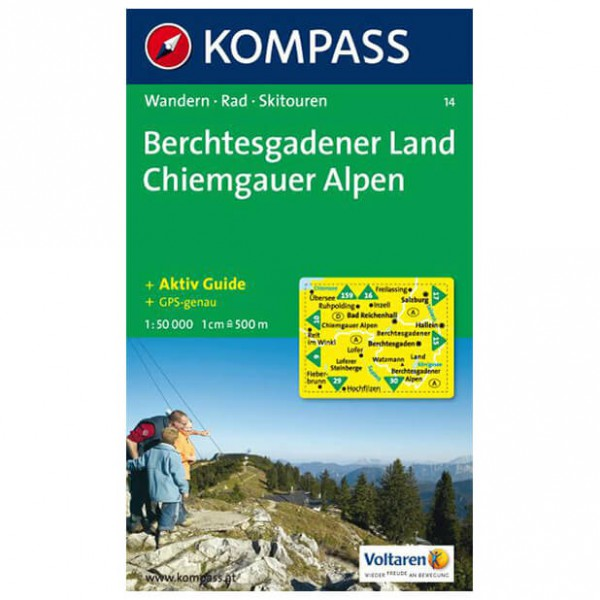 Kompass - Berchtesgadener Land - Vandrekort