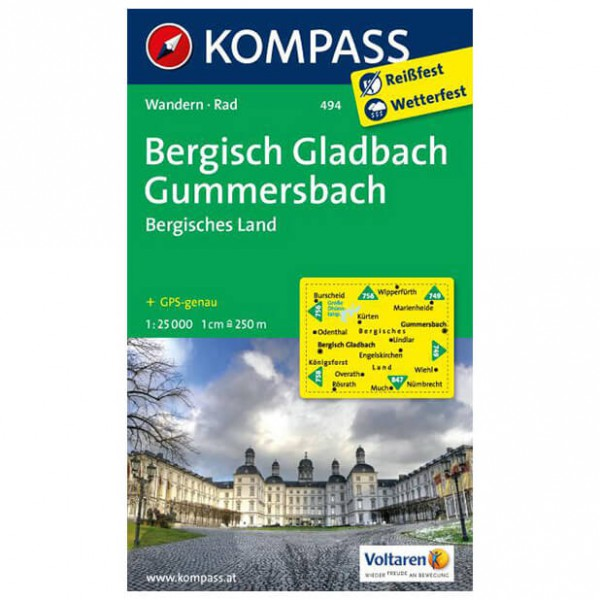 Kompass - Bergisch-Gladbach - Wandelkaarten
