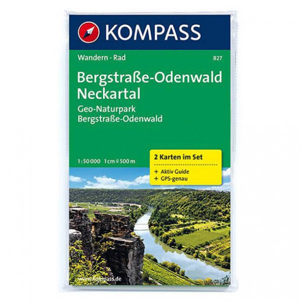 Kompass - Bergstraße-Odenwald - Hiking map