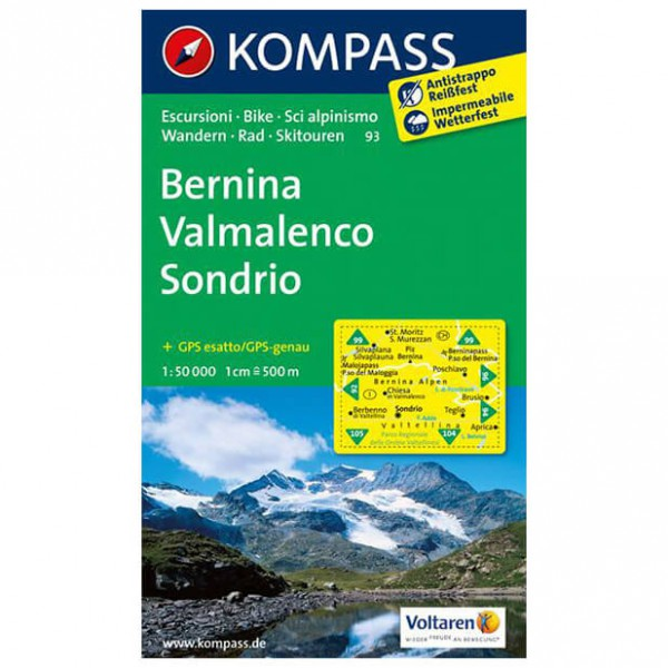 Kompass - Bernina - Hiking map