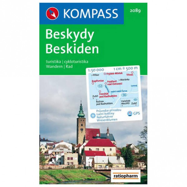 Kompass - Beskiden /Beskydy - Wandelkaarten