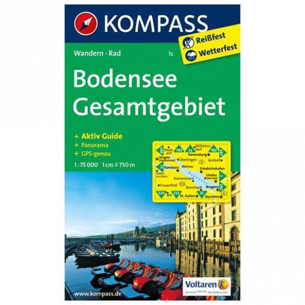 Kompass - Bodensee Gesamtgebiet - Wandelkaarten