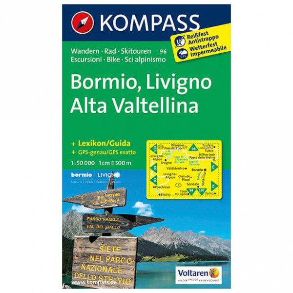 Kompass - Bormio - Hiking Maps