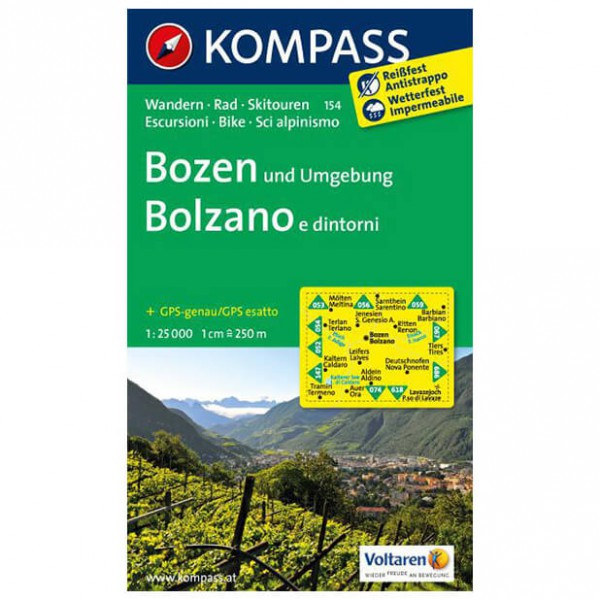 Kompass - Bozen und Umgebung - Vandringskartor