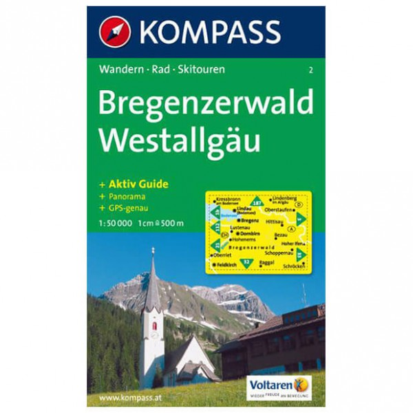 Kompass - Bregenzerwald - Wanderkarte