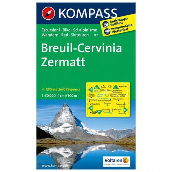 Kompass - Breuil - Vandrekort