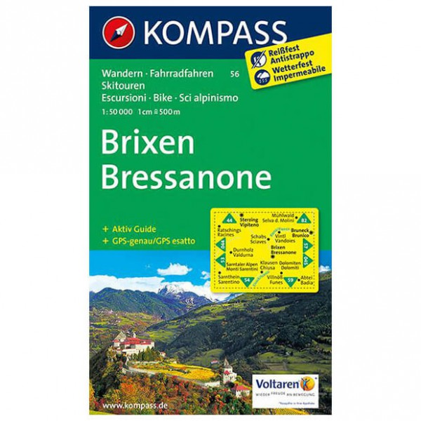Kompass - Brixen /Bressanone - Hiking Maps