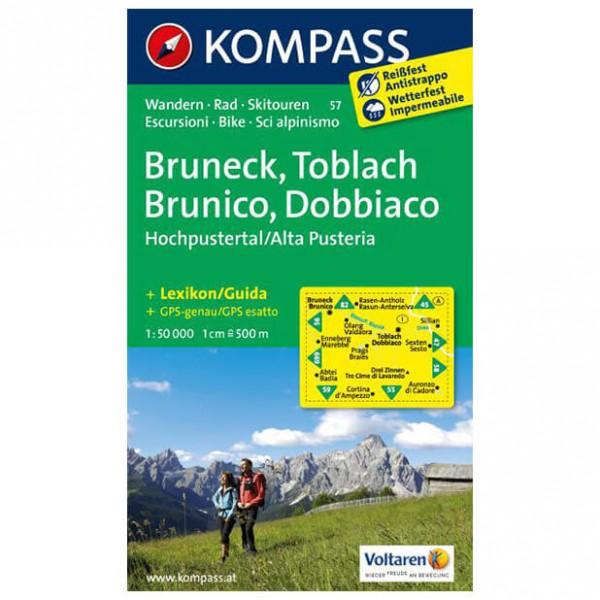Kompass - Bruneck /Toblach /Hochpustertal - Wanderkarte
