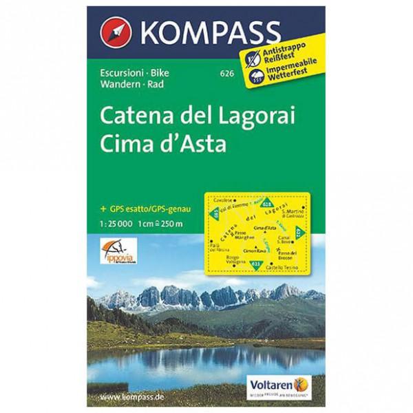 Kompass - Catena del Lagorai - Vaelluskartat