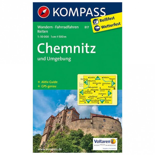 Kompass - Chemnitz und Umgebung - Wanderkarte