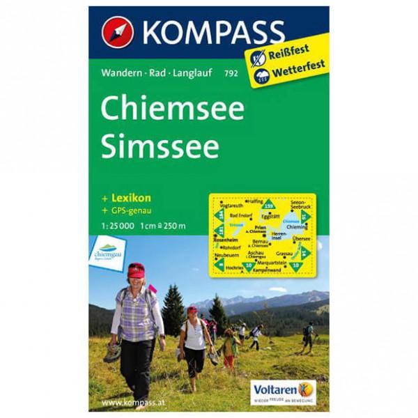 Kompass - Chiemsee - Simssee - Wanderkarte