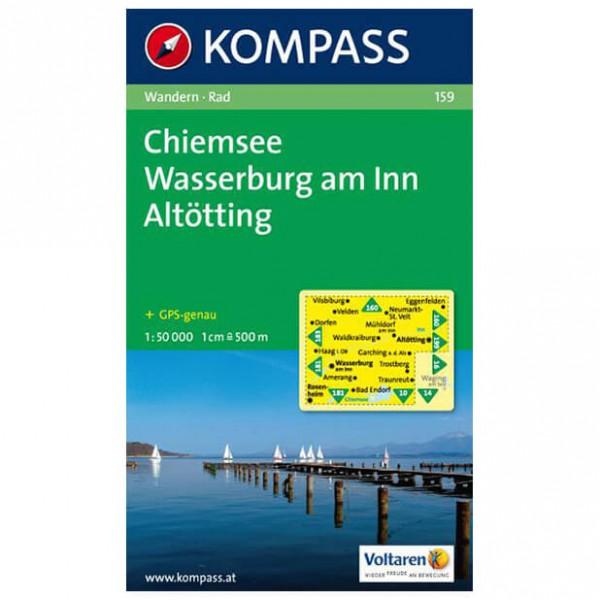 Kompass - Chiemsee - Wasserburg am Inn - Vandringskartor