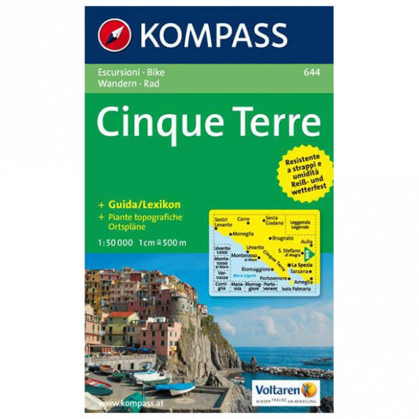 Kompass - Cinque Terre - Cartes de randonnée