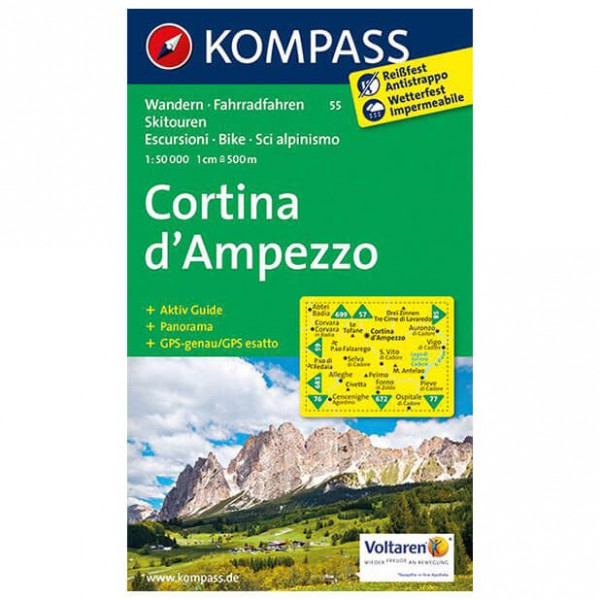Kompass - Cortina d'Ampezzo - Wandelkaarten