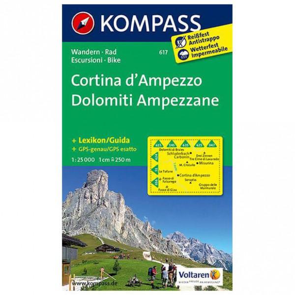 Kompass - Cortina d'Ampezzo /Dolomiti Ampezzane - Vandrekort