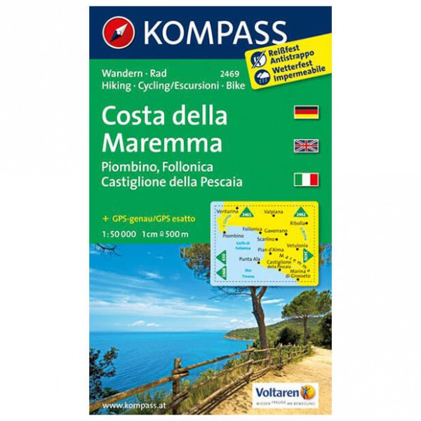 Kompass - Costa della Maremma - Vaelluskartat