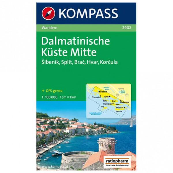 Kompass - Dalmatinische Küste Mitte - Wandelkaarten