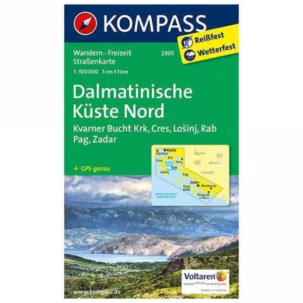 Kompass - Dalmatinische Küste Nord - Cartes de randonnée