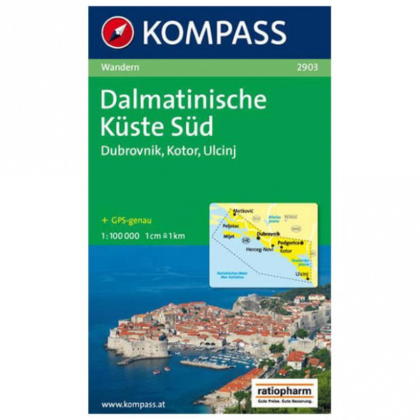 Kompass - Dalmatinische Küste Süd - Mapa de senderos