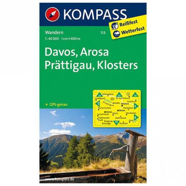 Kompass - Davos - Wandelkaarten