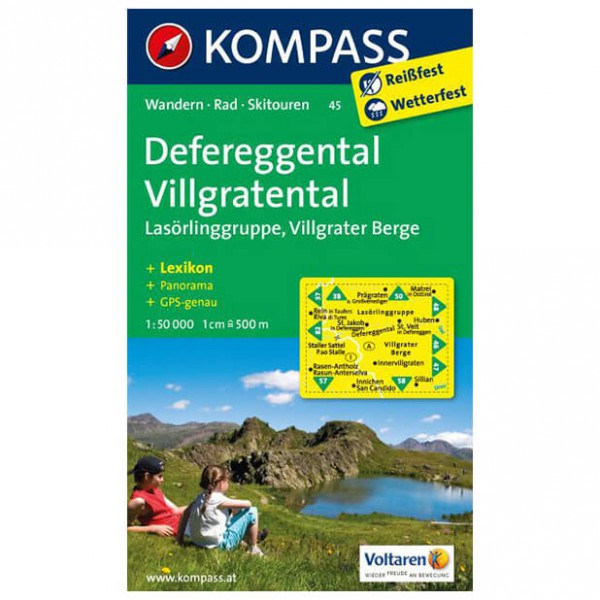 Kompass - Defereggental - Wanderkarte